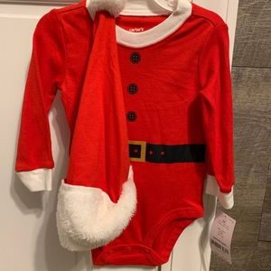 Carters Santa onesie and hat